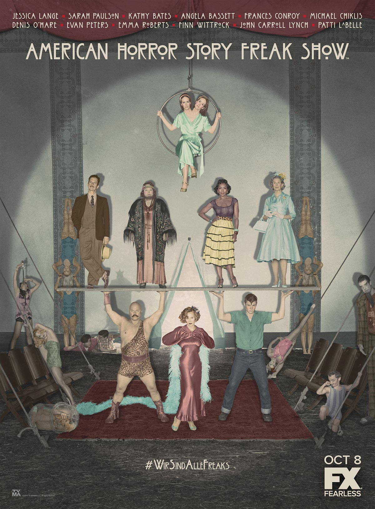 Dreamogram Iconisus – Key Art – Movie Poster – American Horror Story: Freak Show – 6