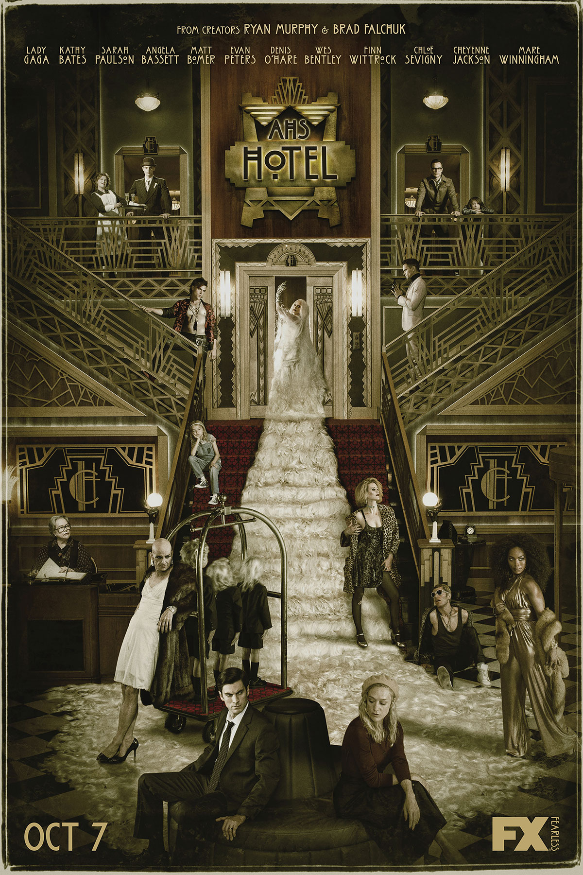 Dreamogram Iconisus – Key Art – Movie Poster – American Horror Story: Hotel – 3
